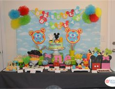 Twins' Mickey Mouse Clubhouse 1st Birthday Party