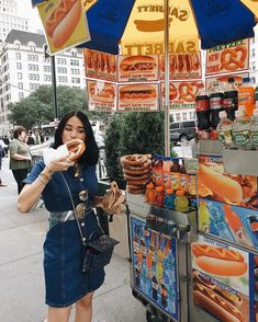 Couldn't leave New York without grabbing a bite of these. Hotdog Dog, Heart Evangelista, Leaving New York, Hot Sausage, Hot Dogs, Asian, Instagram, People, Style