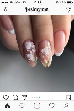Wedding Nails-A Guide To The Perfect Manicure – NaiLovely 3d Nail Designs, Acrylic Nail Designs, Cute Nails, Pretty Nails, 3d Acrylic Nails, 3d Nails Art, Beauty Nail, Bride Nails, Wedding Nails
