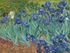 Irises by Vincent van Gogh. Impressionism by Vincent Van Gogh. Van Gogh paintings are studies in color. Be inspired by his art to help you understand how to put a paint color scheme together. Art Van, Van Gogh Art, Vincent Van Gogh, Van Gogh Pinturas, Most Expensive Painting, Iris Painting, Van Gogh Paintings, Paintings Online, Artwork Paintings