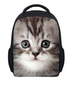 90a9da0b6a0f Aliexpress.com   Buy Small Children School Bag Cute Animal Cat Schoolbag  for Little Girls Kawaii Baby Kidergarten Bag Kids Book bag Mochila Escolar  from ...