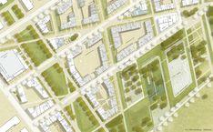 1. Rang freiraumplanerischer Teil: Vertiefung Städtebau, © RMP Stephan Lenzen Landschaftsarchitekten und Fischer Architekten