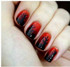Nail art always requires some creativity for good looking nails. Women always like to have various types of nail art designs for different occasions. Cute Nail Art Designs, Red Nail Designs, Halloween Nail Designs, Halloween Nails, Fingernail Designs, Pretty Designs, Halloween 2013, Red Nail Art, Pretty Nail Art