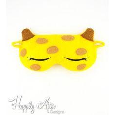 Giraffe Sleep Mask Embroidery Design