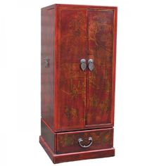 Chinese Leatherette CD Cabinet Cabinet Styles, Chinese Antiques, Cd Racks, Tall Cabinet Storage, The Unit, Red, Base, Cleaning, Decoration