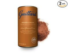 (2pack) E. Guittard Grand Cacao fine Dutched Drinking Chocolate with ground chocolate for hot chocolate and baking-It's premium chocolate that's also gluten free. Yummy!