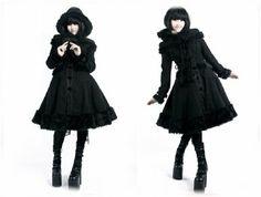 Amazon.co.jp: 【ゴスロリワールド】PUNKRAVE ゴシックリボン黒ロリコート: 服&ファッション小物