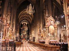 Vienna Austria   Vienna, Austria, St. Stephan cathedral interior