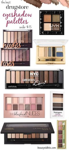 Looking for the best drugstore eyeshadow palette? Here are 8 top-notch drugstore palettes that give you the best bang for your buck! Best Eyeshadow Palette Drugstore, Drugstore Makeup Products, Best Drugstore Makeup 2017, Drugstore Beauty, Eyeshadow Guide, Best Drugstore Primer, Covergirl Eyeshadow, Natural Eyeshadow Palette, Makeup Eyeshadow Palette