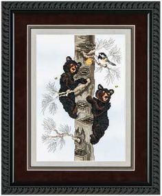 Black Bear Cubs, counted cross-stitch.  This is my next project.