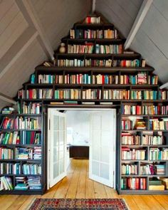 Love this!-I have an unfinished room over the garage. This makes me want to convert it into a cozy reading hideaway