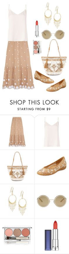 """""""Untitled #1765"""" by naviaux ❤ liked on Polyvore featuring Miguelina, L'Agence, Shashi, Sesto Meucci, Dolce&Gabbana, Chantecaille and Maybelline"""