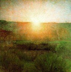 The Rising Sun by Giuseppe Pelizza Da Volpedo, 1903-1904 ☀