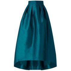 Coast Ira Irridessa Skirt, Kingfisher ($125) ❤ liked on Polyvore featuring skirts, full flared skirt, draped skirts, foldover skirt, blue skirt and flared skirt