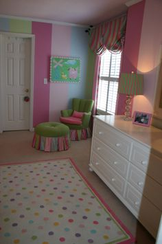 diy rate my space - JHanley76 The stripes in here are cute. Love the chair and ottoman.