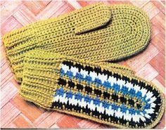 Схема вязания крючком, перчатки и варежки