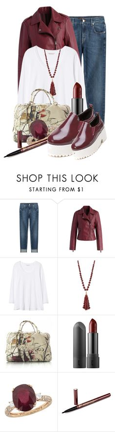 """""""Untitled #9095"""" by queenrachietemplateaddict ❤ liked on Polyvore featuring 7 For All Mankind, Chicwish, Rebecca Taylor, Lydell NYC, Prada, Effy Jewelry and WithChic"""