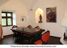 The Castellan's Room, Bran Castle Romania Bran Castle Romania, Dracula Castle, Poker Table, Knights, Castles, Europe, Room, Furniture, Home Decor