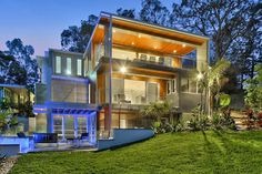 Luxury Contemporary Home on Brisbane River: This striking 4,900 square foot, four bedroom, five bath, contemporary home is located in Fig Tree Pocket, a suburb of Brisbane on the Brisbane River, Queensland, Australia.