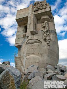 Road of Bones Mask Monument (Magadan, Russia)