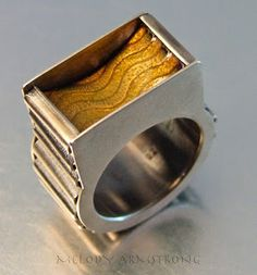 MELODY ARMSTRONG JEWELLERY: CORRUGATED WAVE RINGS - Dimensions 2015