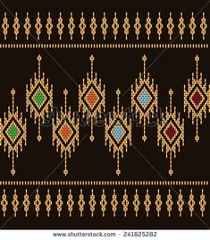 Designs for fabric and printing. Textile Pattern Design, Pattern Designs, Vector Pattern, Native Beading Patterns, Ethnic Patterns, Cross Stitch Embroidery, Hand Embroidery, Embroidery Designs, Cross Stitch Designs