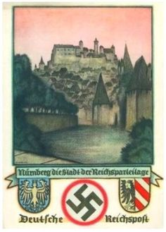 1936 NURNBERG REICHS PARTEITAG NSDAP POSTCARD 100 PCS IN SET PRICE $4999