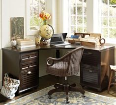 Exceptionnel Whitney Corner Desk Set   Heritage Espresso Finish   Desperately Need Office  Furniture And Lots Of Filing Room