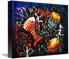 The Singing Fish Framed Wall Art, Framed Art Prints, Fine Art Prints, Canvas Prints, Singing Fish, Preschool Music Activities, Batik Art, Handmade Pottery, In Kindergarten
