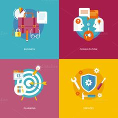 Check out Flat Business and FInance Icons Set by painterr on Creative Market