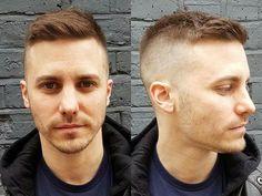 Short back & sides fade haircut textured   Short mens haircuts spring summer 2017   Short Hairstyles For Men