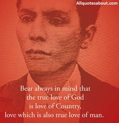 Andres Bonifacio Quotes:Filipino revolutionary leader Andres Bonifacio is both brave by pen and sword.Andres Bonifacio and His Ideas on Love Country. Love Can, What Is Love, Anxious, Revolutionaries, Memoirs, Gods Love, Rage, Quote Of The Day, Love Quotes