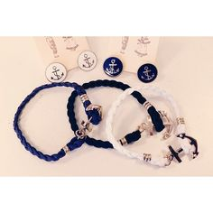 Adorable anchor earrings and bracelets!