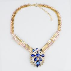 WHOLESALE FASHION JEWELRY ACCESSORIES NEW DESIGN LADY LUXURY PENDANT CRYSTAL BIB STATEMENT NECKLACE COLLAR HOT