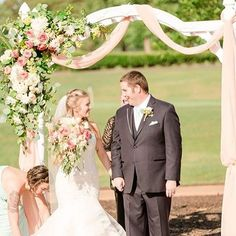 """We loved being a part of Scott and Tara's special day at Kiln Creek Golf Club and Resort! Read more about their beautiful love story and their classic, Southern summer wedding on the blog. Link in profile. : Brittany Sain Photography"" by @morrisonsflowers. #bridalstyle #weddingfashion #weddingdream #weddingidea #bridalinspiration #bridalinspo #rusticwedding #невеста #prewedding #bridalgown #bridaldress #свадебноеплатье #vestidodenoiva #couture #gelinlik #gown #weddingtime #theknot…"