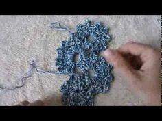 sciarpa ad archetti all'uncinetto - YouTube