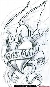 Afbeeldingsresultaat voor gothic clown tattoo sketch