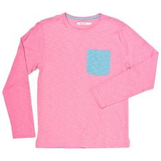 Long Sleeve Caracol Tee Pink by Olasul