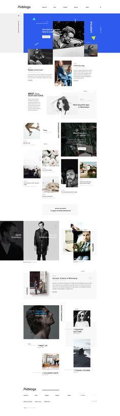 Pieblogs - #webdesign #inspiration #moderndesign #blog