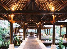 tropical hotel breezeway