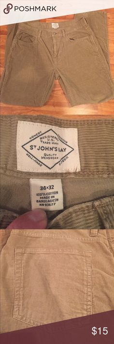 Men's pants Excellent condition St. John's Bay Pants Corduroy