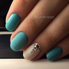August nails, Graduation nails, Ideas ofturquoise nails, Nails under…