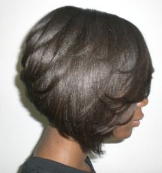 Layered Bob. To learn how to grow your hair longer click here - http://blackhair.cc/1jSY2ux