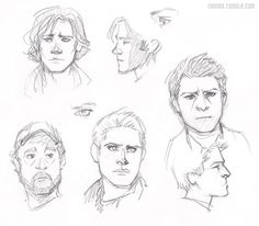 Sketches of the boys from Supernatural. Love these. [fornax.tumblr.com]