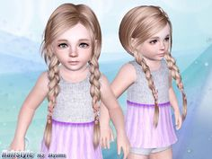 """Another problem is that a lot of the """"cute toddler"""" CC hair is actually originally made for adults. Description from forum.thesims3.com. I searched for this on bing.com/images"""