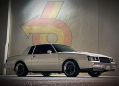 This is likely just a Buick Regal T-type. The Buick Grand National was only available in Black. As all car enthusiests know this, it isn't very likely to be a Grand National which was re-painted white.