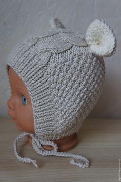Baby Booties Knitting Pattern, Baby Boy Knitting, Sweater Knitting Patterns, Crochet Baby Hats, Crochet For Kids, Knitted Hats, Knit Crochet, Crochet Patterns, Knit Baby Dress