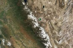 Sierra Nevada Snowpack in a Wet Year, Dry Year : Image of the Day : NASA Earth Observatory 21 Oct 2015