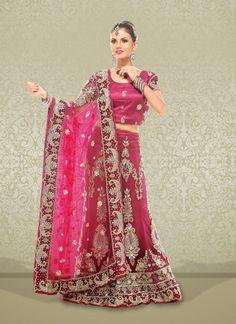 Luscious Wine Net Embroidered #Lehenga Choli #bridallehenga #weddinglehengas #ethnicwear #womenapparel #womenfashion