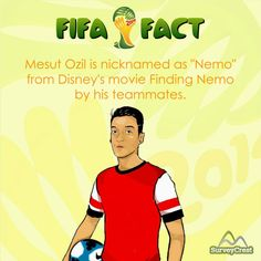 #DYK that Ozil is nicknamed as Nemo by his teammates because of his eyes.  #FIFAfact